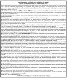 REGULAMENTO PARA ELEIÇÕES BIÊNIO 2021/2023